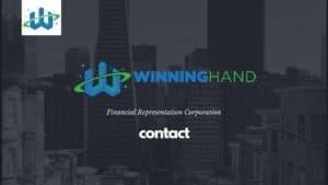 contact winning hand financial representation 1